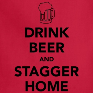 Drink Beer and Stagger Home Women's T-Shirts - Adjustable Apron