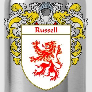 Russell Coat of Arms/Family Crest - Water Bottle