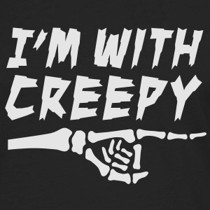 I'm with creepy T-Shirts - Men's Premium Long Sleeve T-Shirt