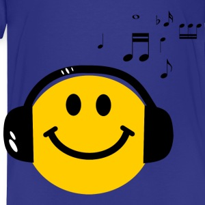 Music Love Smiley with Headphones Kids' Shirts - Toddler Premium T-Shirt