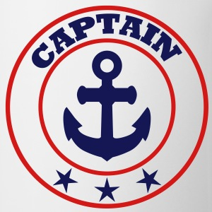 captain sailing capt'n sail crew T-Shirts - Coffee/Tea Mug