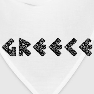 Greece Black T-Shirts - Bandana