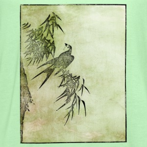 Japanese Bird Art Women's T-Shirts - Women's Flowy Tank Top by Bella