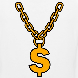 dollar gold chain  T-Shirts - Men's Premium Tank