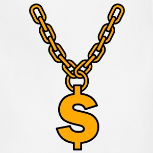 dollar gold chain  T-Shirts - Adjustable Apron