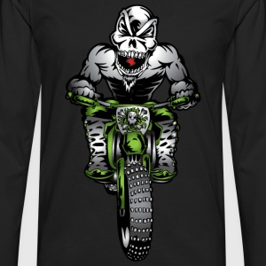Kawasaki Motorbike Skull Monster Women's T-Shirts - Men's Premium Long Sleeve T-Shirt