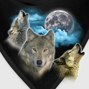Wolves Moon Women's T-Shirts - Bandana