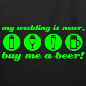 wedding bachleor t-shirt buy me a beer - Eco-Friendly Cotton Tote