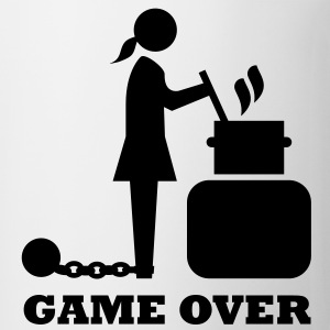 game over cooking woman bachelorette bachelor   T-Shirts - Coffee/Tea Mug