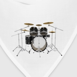Black Drum Kit: T-Shirt - Bandana