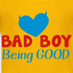 BAD BOY- being GOOD! Kids' Shirts - Toddler Premium T-Shirt
