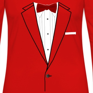 Tuxedo Red Bowtie Baby & Toddler Shirts - Women's Premium Long Sleeve T-Shirt