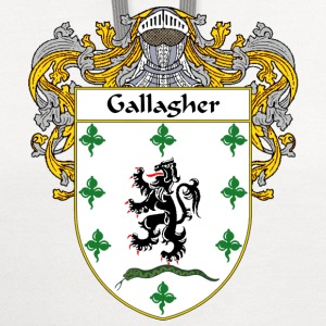 Gallagher Coat of Arms/Family Crest - Contrast Hoodie
