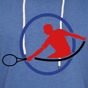 tennis man hitting swing hit T-Shirts - Unisex Lightweight Terry Hoodie