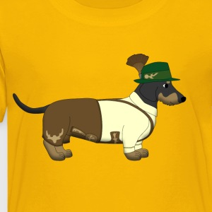 bavarian dachshound white Kids' Shirts - Toddler Premium T-Shirt