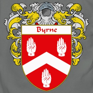Byrne Coat of Arms/Family Crest - Unisex Fleece Zip Hoodie by American Apparel