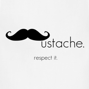 Respect Mustache T-shirt - Adjustable Apron
