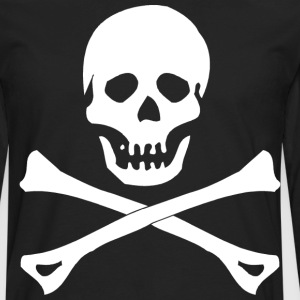 Skull and Crossbones T-Shirt - Men's Premium Long Sleeve T-Shirt