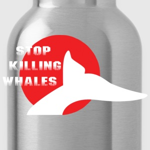 Stop Killing Whales Japan T-Shirt - Water Bottle