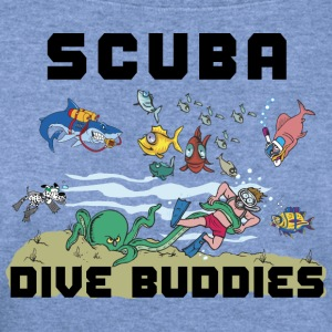 SCUBA Dive T-Shirt - Women's Wideneck Sweatshirt