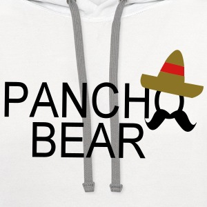 pancho bear name - Contrast Hoodie