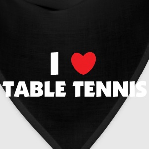 I Love Table Tennis T-Shirt - Bandana