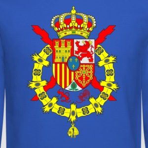Spain Emblem Flag Football League Corona Crowwn - Crewneck Sweatshirt