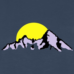 Mountain with Sunset / sunrise Women's T-Shirts - Men's Premium Long Sleeve T-Shirt