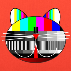 tv - television - test card cat T-Shirts - Tote Bag