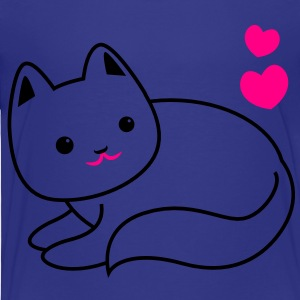 super cute kawaii cat kitty outline Kids' Shirts - Toddler Premium T-Shirt