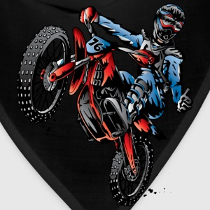 Motocross Dirt Bike Stunt Rider Kids' Shirts - Bandana