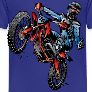 Motocross Dirt Bike Stunt Rider Kids' Shirts - Toddler Premium T-Shirt