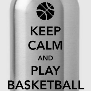 Keep Calm and Play Basketball T-Shirt - Water Bottle