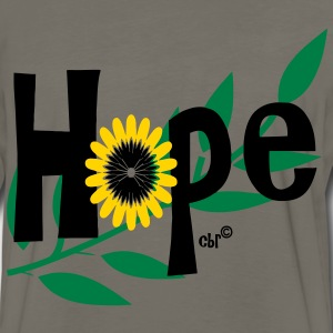 hope_with_sunflower and leafs T-Shirts - Men's Premium Long Sleeve T-Shirt