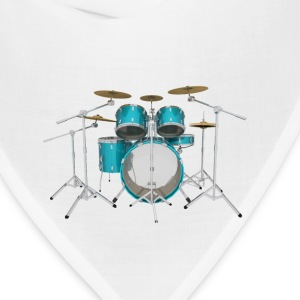 Aqua Drum Kit: T-Shirt - Bandana