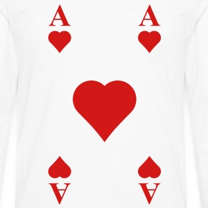 ace of hearts T-Shirts - Men's Premium Long Sleeve T-Shirt