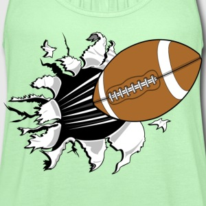 football - Women's Flowy Tank Top by Bella