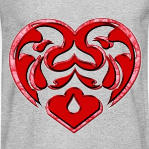 Womens DoubledHeart - Men's Long Sleeve T-Shirt