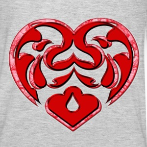Womens DoubledHeart - Men's Premium Long Sleeve T-Shirt