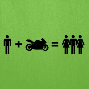 Motorbiker & Women T-Shirts - Tote Bag