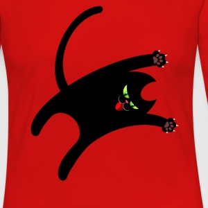 NINJA CAT T-Shirts - Women's Premium Long Sleeve T-Shirt