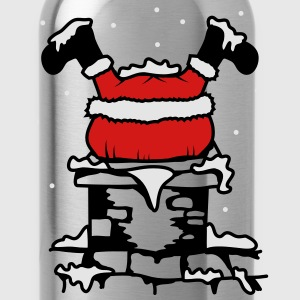 Santa Claus stuck in the chimney T-Shirts - Water Bottle