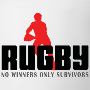 Rugby No Winners Only Survivors T-Shirt - Coffee/Tea Mug