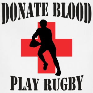 Donate Blood Play Rugby T-Shirt - Adjustable Apron