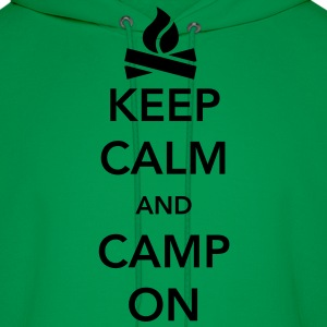 Keep Calm and Camp On T-Shirts - Men's Hoodie