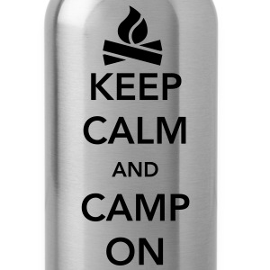 Keep Calm and Camp On T-Shirts - Water Bottle