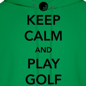 Keep Calm and Play Golf T-Shirts - Men's Hoodie