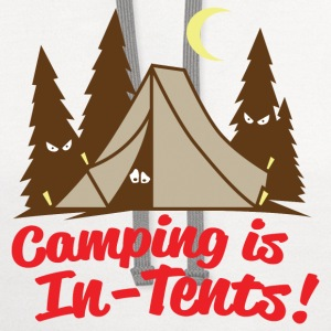Camping Is In-Tents - Contrast Hoodie