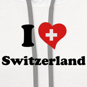 I love Switzerland T-Shirts - Contrast Hoodie