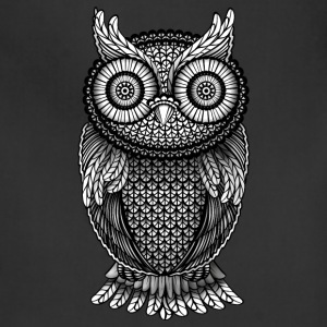ornamental Owl Design black and white T-Shirts - Adjustable Apron